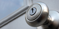 close up of door knob