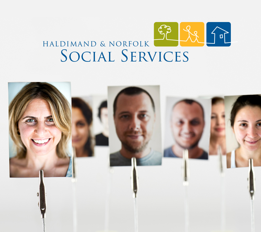 Variety of people with HN Social Services logo.